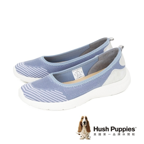Hush Puppies (女)飛織厚底娃娃鞋 女鞋-藍(另有黑)