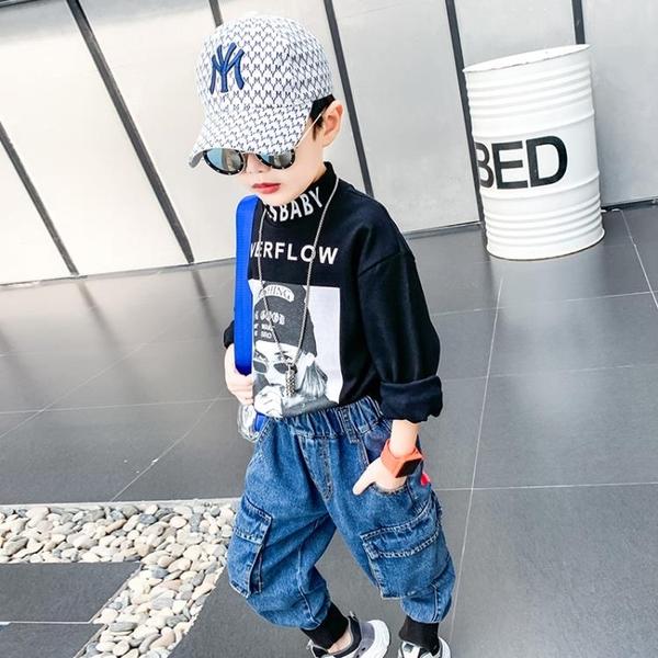 男童打底衫2019新款兒童上衣長袖秋冬加厚半高領加絨內搭T恤秋季