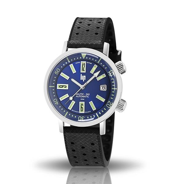 【lip】Nautic Ski時尚數字時標潛水機械腕錶-質感黑/671506/台灣總代理公司貨享兩年保固