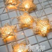 臥室五角星led小彩燈裝飾燈小燈泡串燈星星燈閃燈滿天星新年浪漫 解憂雜貨鋪