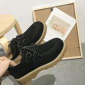 英倫風女鞋2018新品春季單鞋韓版百搭牛津鞋女鞋厚底平跟小皮鞋女