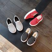 春秋季女童休閒鞋子1-2-3歲4男童單鞋寶寶板鞋潮透氣帆布鞋兒童鞋-Ifashion
