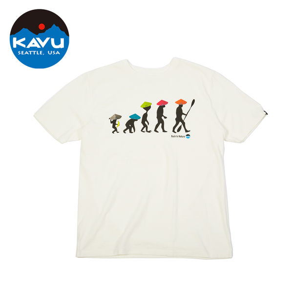 【日本限定款】西雅圖 KAVU Back To Nature Tee 棉質T-Shirt 白色 #10426