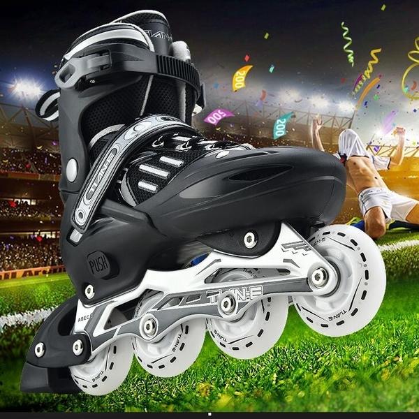 直排輪 溜冰鞋成人全套裝輪滑鞋單排旱冰鞋男女兒童滑冰鞋直排輪初學者【快速出貨八折下殺】