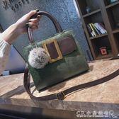 包包女韓版潮簡約百搭單肩包復古個性小方包斜背手提小包 水晶鞋坊