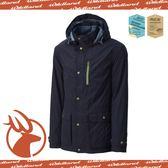 【Wildland 荒野 男款 絲絨 時尚防風保暖外套《深藍》】0A-3291072/防潑水外套/連帽外套/透氣