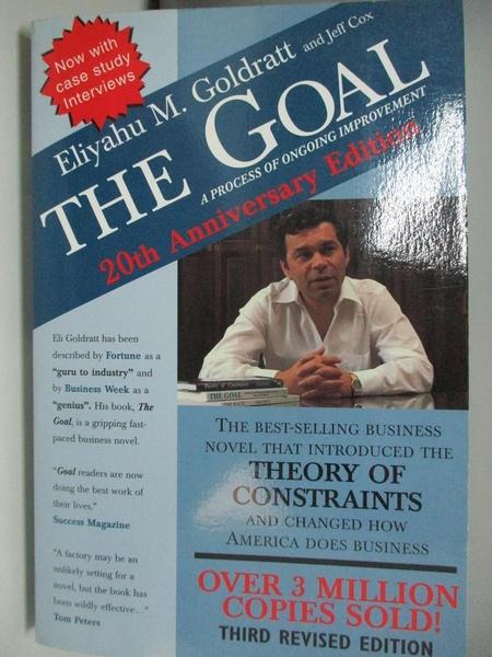 【書寶二手書T5/財經企管_DCA】GOAL: GOAL_Goldratt, Eliyahu M./ Cox, Jeff