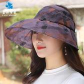 太陽帽女夏韓版百搭日系文藝漁夫帽防紫外線遮陽帽青年大檐沙灘帽