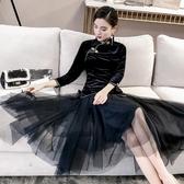 古裝漢服女現代中國風女裝古裝仙女半身裙飄逸唐裝民國裝日常古風裙子 嬡孕哺