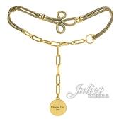 茱麗葉精品【全新現貨】Christian Dior 新款金屬三葉草造型頸鍊.金
