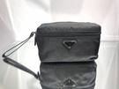 ■現貨在台■專櫃64折■ Prada 2NE015 黑色跳傘布上掀蓋盥洗包/化妝包
