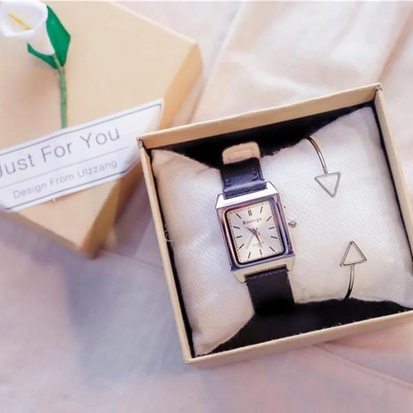 手錶冷淡風手錶銀色文藝氣質鍊條ins復古女學生正韓簡約潮流女生chic 快速出貨
