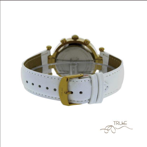 瑞士TRUeE 瑞時寶嘉 TA150267 超值純白三眼腕錶 (白)/40mm