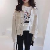 口袋流蘇邊設計短版牛仔外套 CC KOREA ~ Q26975