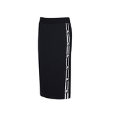 FILA NEWTRO MANIA 女款黑色針織長裙-NO.5SKV-1438-BK
