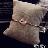 手鐲韓國氣質百搭手鐲森系網紅水晶女手鍊風小眾設計手環閨蜜