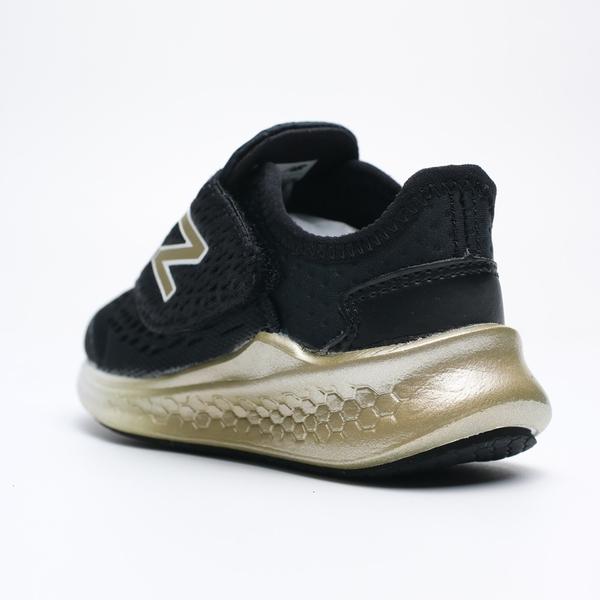 NEW BALANCE 黑金 網布 飛機黏帶鞋 運動鞋 休閒鞋 童鞋 小童 (布魯克林) ITFSTMS