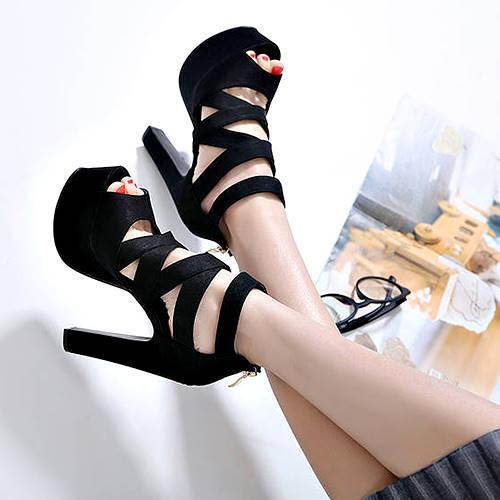 克妹Ke-Mei【ZT45936】歐洲站  夜店名媛交叉美踝羅馬露指高跟鞋