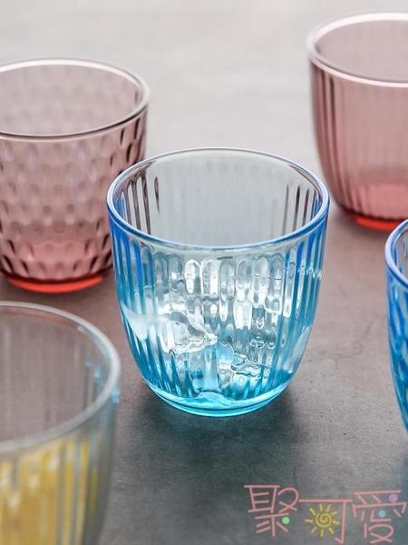 北歐玻璃杯家用透明泡茶喝水杯子果汁牛奶啤酒杯【聚可愛】