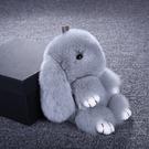 吊飾 仿獺兔毛裝死兔小兔子皮草掛件萌萌兔...