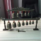 仿古青銅雙層創意家居擺件編鍾金屬工藝品婚慶禮品