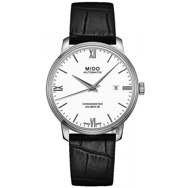 MIDO 美度 永恆系列80小時天文台認證矽游絲機械錶-白x黑/39mm M0274081601800