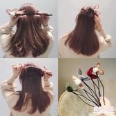 盤髮器 兔耳朵頭飾丸子頭盤髮器造型器韓國花苞頭百變神器蓬松懶人髮飾品