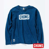 CHUMS 日本 女 Logo 長袖T恤 Indigo丹寧藍 CH111334N030