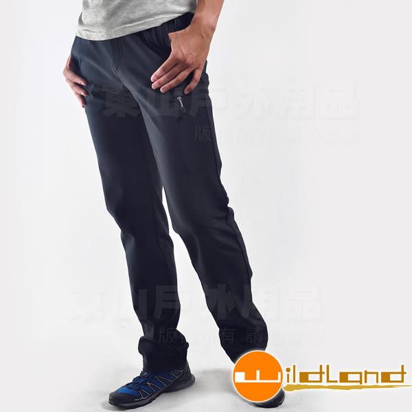 Wildland 荒野 0A22316-72深藍色 男 Softshell直筒長褲