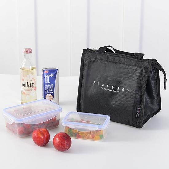 現貨 保溫袋 便當袋 收納包 手提包 飯盒 大容量 簡約三角保溫便當袋(短)【J209】米菈生活館