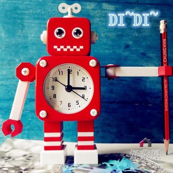 變形金剛鬧鐘 機器人鬧鐘 創意學生鬧鐘可愛 兒童卡通鬧鐘 鬧鐘HLW 交換禮物