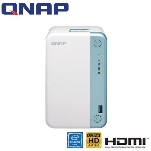 QNAP 威聯通 TS-251D-4G 2Bay 網路儲存伺服器