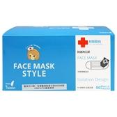 Lin Lian Bandages 利聯醫技 防護用口罩-水藍色(盒裝50入)【小三美日】成人口罩