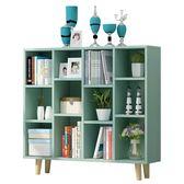 書架—簡易書架簡約現代置物架落地桌上櫃子學生創意格子櫃自由組合書櫃 依夏嚴選