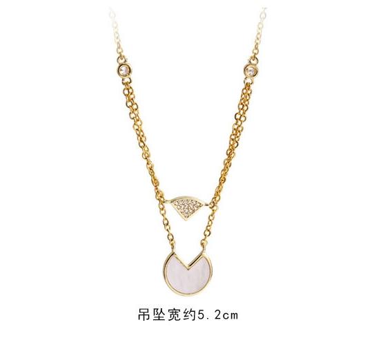 《Caroline》韓國時尚風格項鍊網紅ins甜美.自然.氣質鈦剛項鍊72666