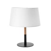 (組)特力屋萊特黑鐵檯燈白色燈罩-33cm