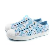 native JEFFERSON PRINT 休閒鞋 洞洞鞋 淺藍色 花卉 男女鞋 11100101-8880 no965