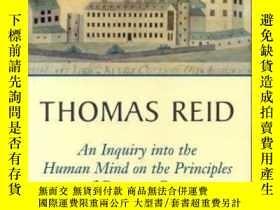 二手書博民逛書店Thomas罕見Reid An Inquiry Into The