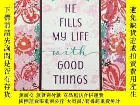 二手書博民逛書店Guided罕見Journal: He Fills My Lif