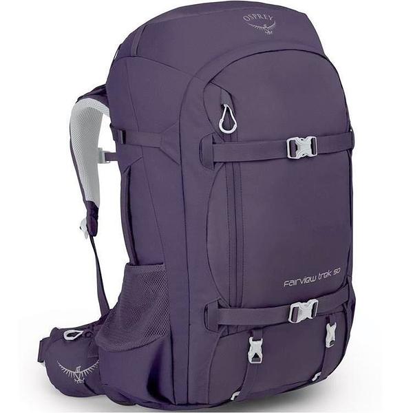 『VENUM旗艦店』Osprey Fairview Trek 50 旅行背包 女款51升 項鍊紫