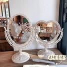 化妝鏡 少女心桌面臺式網紅梳妝鏡子雙面歐式宿舍公主鏡【快速出貨八折下殺】