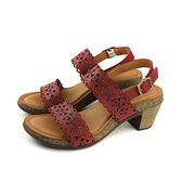 HUMAN PEACE 涼鞋 跟鞋 牛皮 深紅色 女鞋 no345