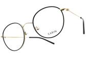 CARIN 光學眼鏡 LIM MORE C1 (黑-金) 韓星秀智代言 簡約知性圓框款 # 金橘眼鏡
