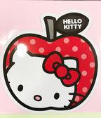 【震撼精品百貨】Hello Kitty 凱蒂貓~凱蒂貓 HELLO KITTY 車用大磁鐵-蘋果