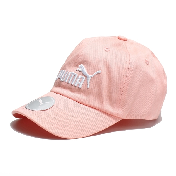 PUMA 帽子 棒球帽 老帽 ESS CAP 粉紅 刺繡LOGO 可調式 男女 (布魯克林) 02241634