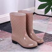 防水雨鞋 時尚雨鞋女雨靴成人加絨防水套鞋韓國膠鞋防滑水鞋【快速出貨八折搶購】