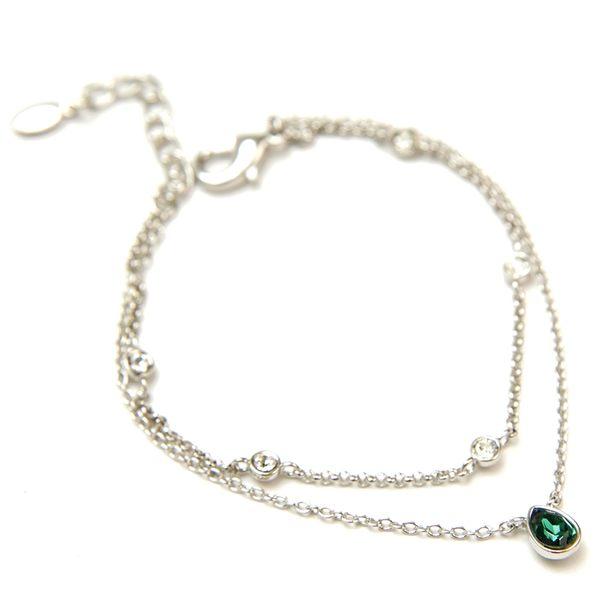 韓國 CLUE 綠色水滴水晶手環