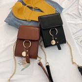 DE shop~復古百搭單肩斜挎包時尚質感鏈條迷你手機包 (M-6129)