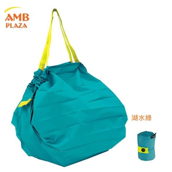 日本 MARNA Shupatto【 湖水綠色M】輕量口袋包環保購物袋/快速摺疊收納