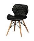 【南洋風休閒傢俱】造型椅系列-思麗餐椅 木頭腳餐椅 彩色塑料餐椅 (JH973-11-14)